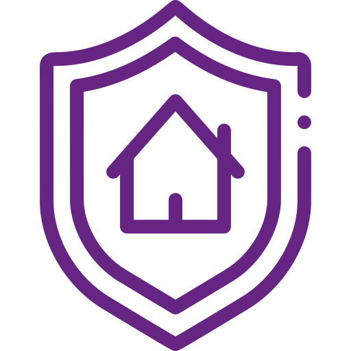 House in shield icon