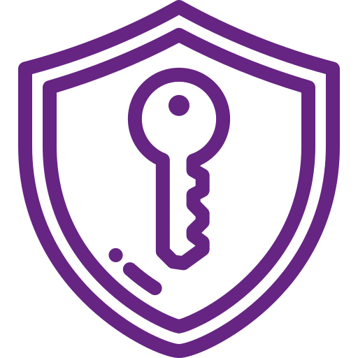 Key in shield icon